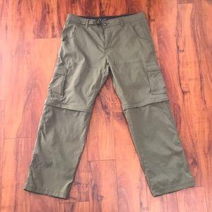 Prana Stretch Zion Hiking Travel Pants 36/30 Cargo